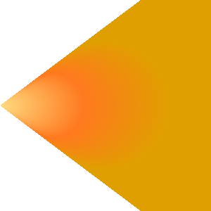 Orange-yellow radial gradient with focal point outside of the focal circle; renders in the area defined by the focal point and the 2 tangents going through the focal circle